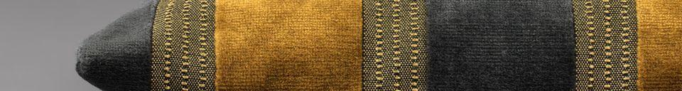 Benadrukte materialen Scott geel en grijs kussen