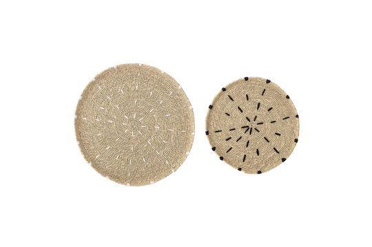 Set van 2 natuurlijke Domblans decoratieve platen Productfoto