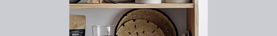 Benadrukte materialen Set van 2 natuurlijke Domblans decoratieve platen