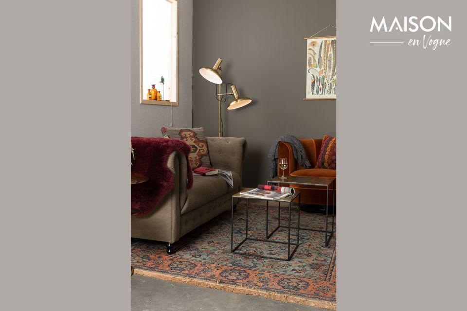 2 kleine vierkante nesttafels voor uw woonkamer of inkomhal