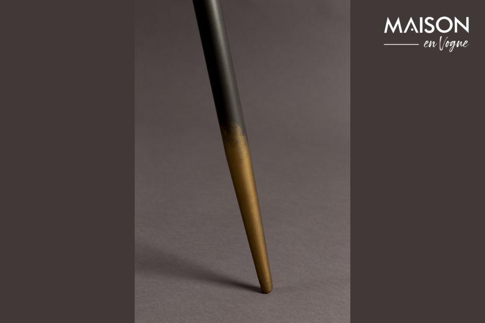 Het blad is in grijs gelakt ijzer van 40 of 45 cm, afhankelijk van de tafel