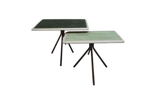 Set van 2 tafels Rêverie Vertes in gelakt hout