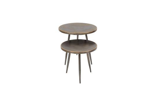 Set van 2 zijtafels van geborsteld metaal Flaxieu Productfoto