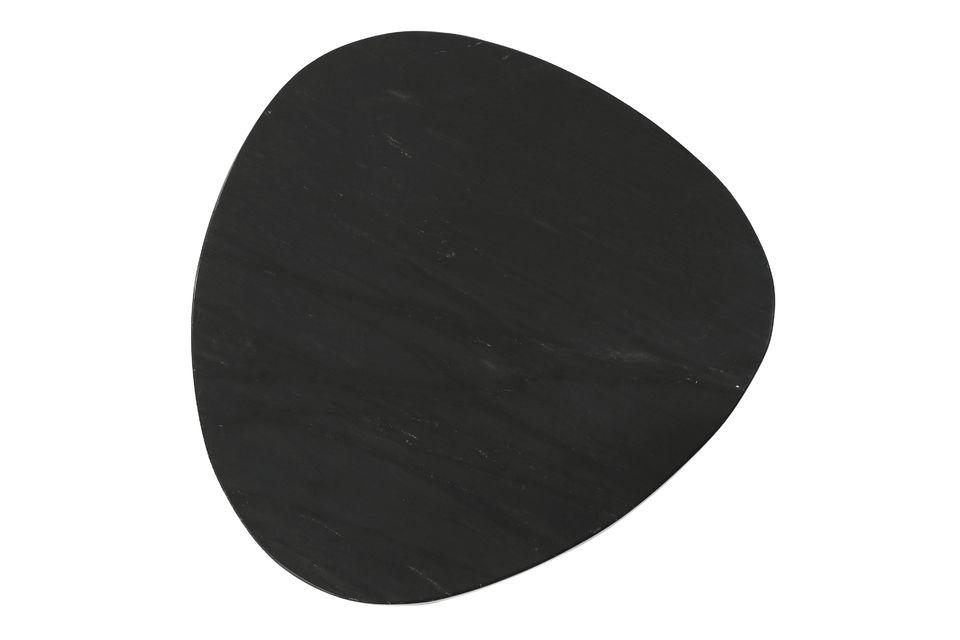 Set bestaande uit 3 zwarte marmeren bijzettafels