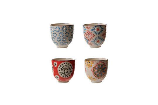 Set van 4 Boheemse espressokopjes