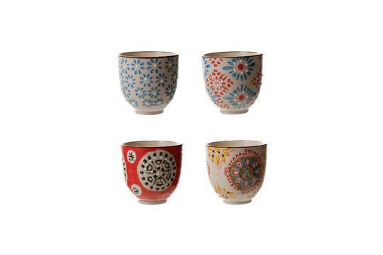 Set van 4 Boheemse espressokopjes Productfoto