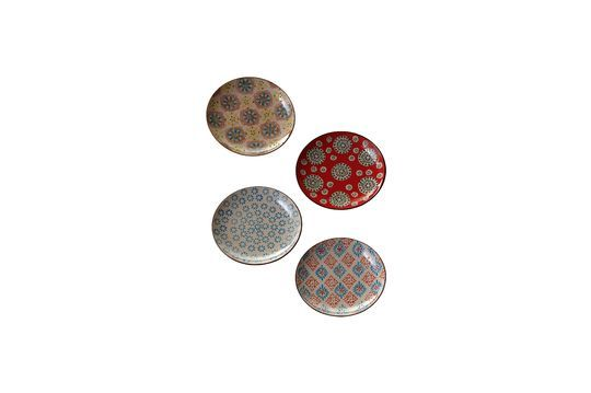 Set van 4 Boheemse keramische platen