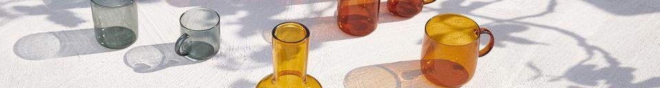 Benadrukte materialen Set van 4 glazen Lasi-bekers