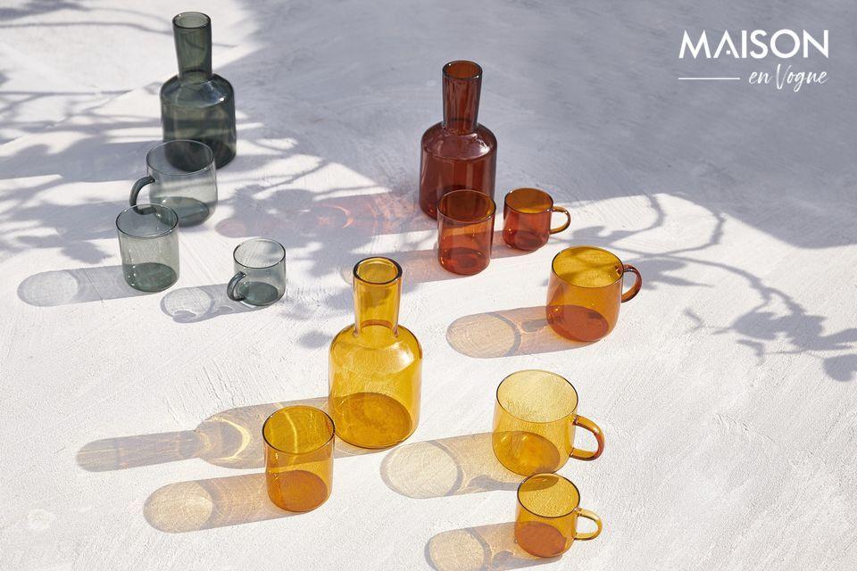 Set van 4 bekers van het merk Pomax in borosilicaatglas