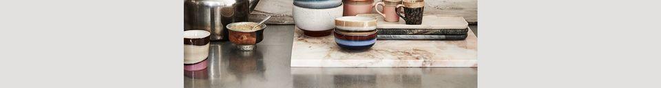 Benadrukte materialen Set van 4 keramische cappuccino cups jaren 70