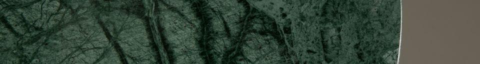 Benadrukte materialen Smaragdgroene Bijzettafel