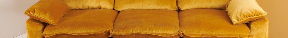 Benadrukte materialen Sofa 3-zits Vez oker kleur