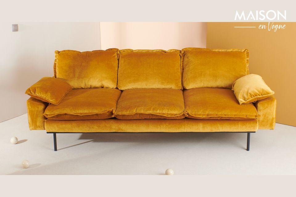Sofa 3-zits Vez oker kleur
