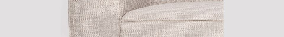 Benadrukte materialen Sofa Bor 2,5-zits Latte