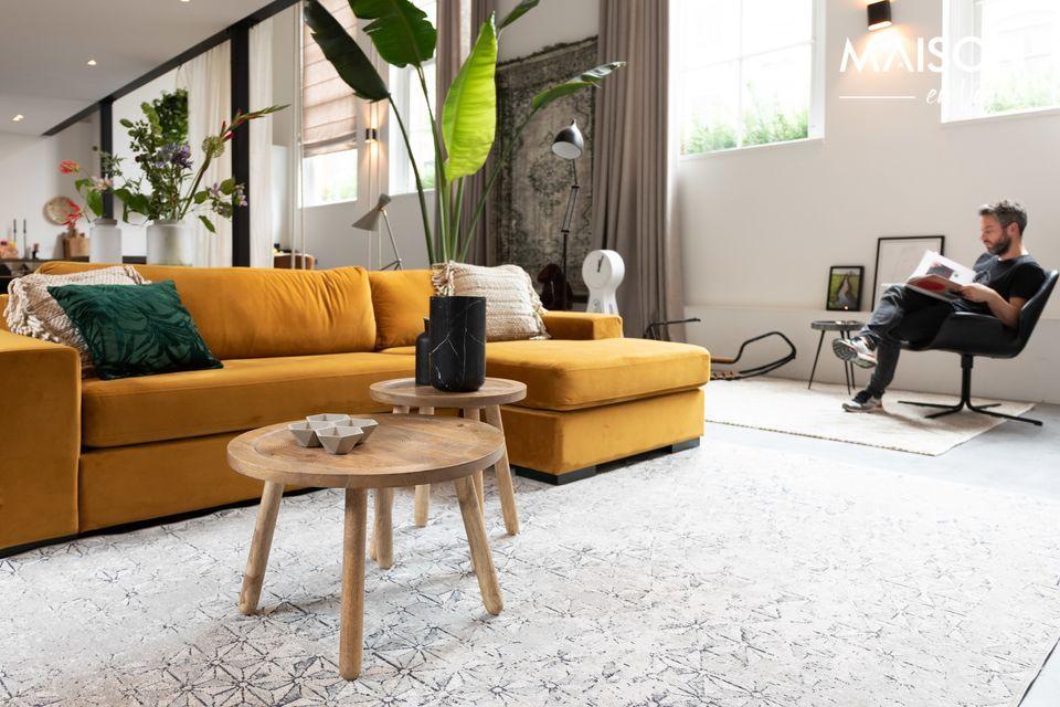 Sofa Fiep links in okerfluweel