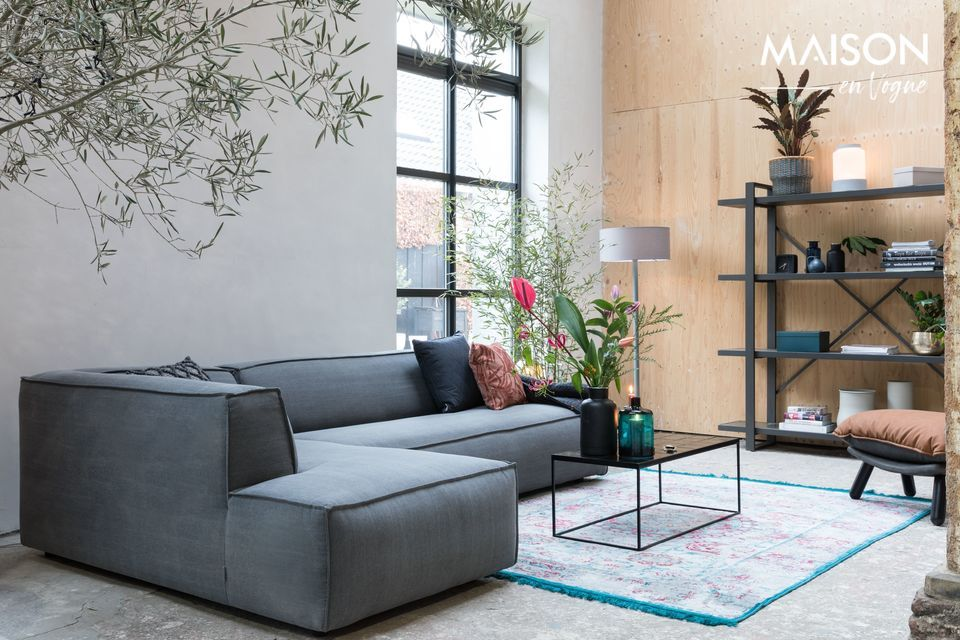 Sofa links Fat Freddy stone grey bank Zuiver