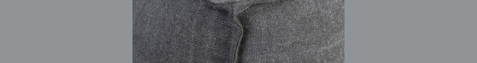 Benadrukte materialen Sofa links Fat Freddy stone grey bank