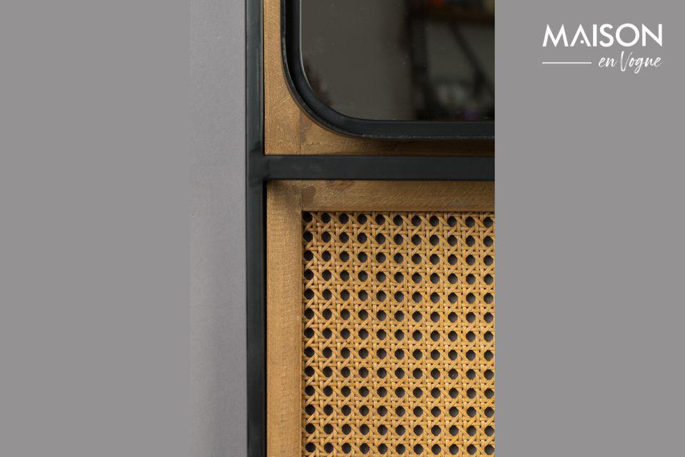 Dit contrast van materialen zal de industriële stijl met de natuurlijkheid van rotan combineren