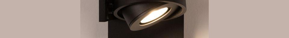 Benadrukte materialen Spotlight Luci-1 DTW zwart