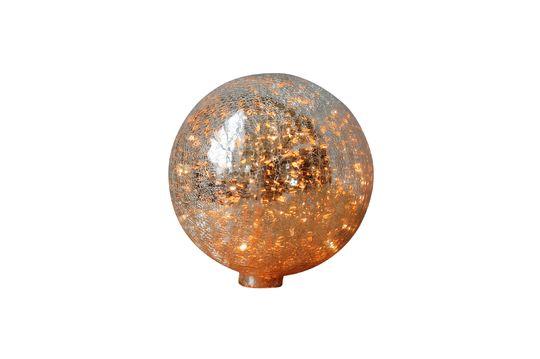 Tafellamp 20 cm bal van gebarsten gemerceriseerd glas en slinger