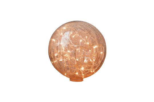 Tafellamp 25 cm helder gescheurde glazen bol