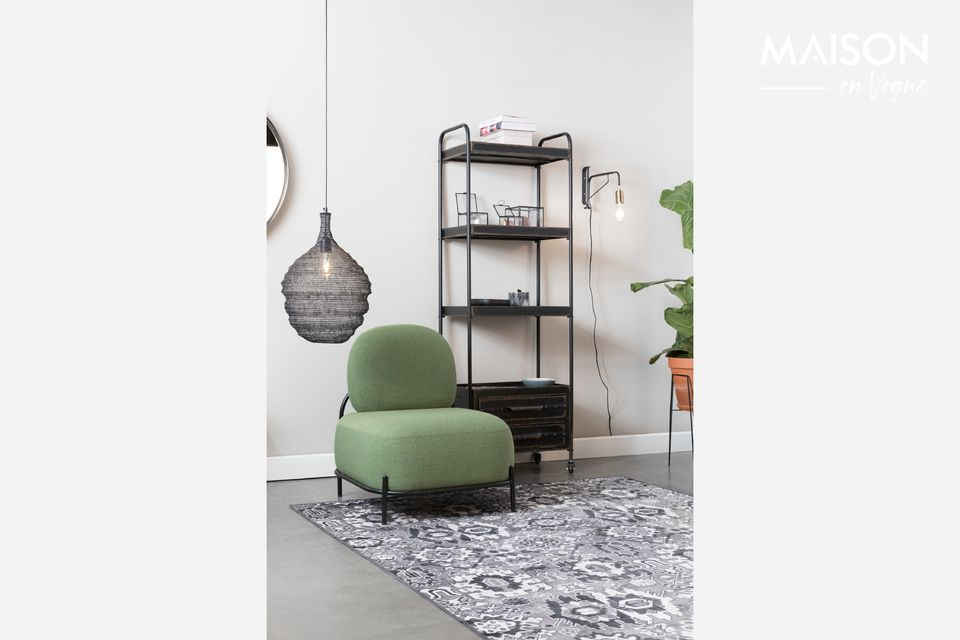 Een mat die compatibel is met vloerverwarming, met rubberen ondersteuning