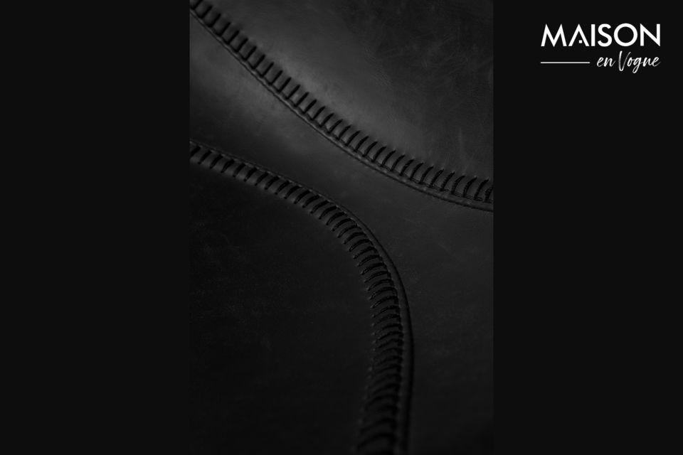 Deze Franky zwarte toonbankkruk heeft een ergonomische zitting en voetsteun (maximale belasting 100