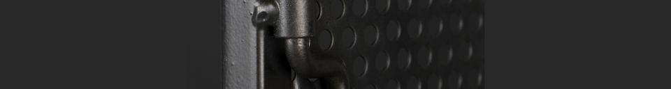 Benadrukte materialen Texas zwart metalen kast