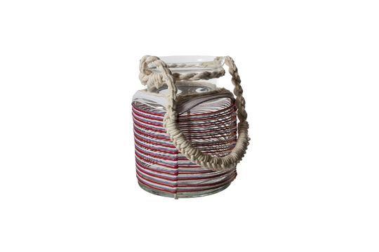 Thieux-lantaarn met gekleurde katoendraden