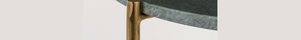 Benadrukte materialen Timpa groen marmeren bijzettafel