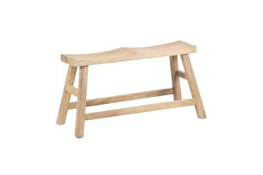Tricotbank voor twee personen in natuurlijk hout