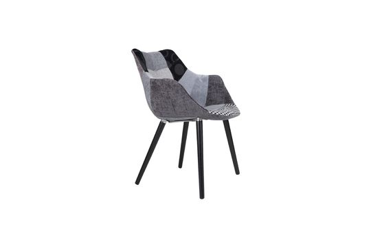 Twaalf Grijze Patchwork fauteuil