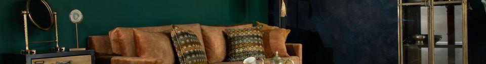 Benadrukte materialen Voetsteun Houda karamel kleur