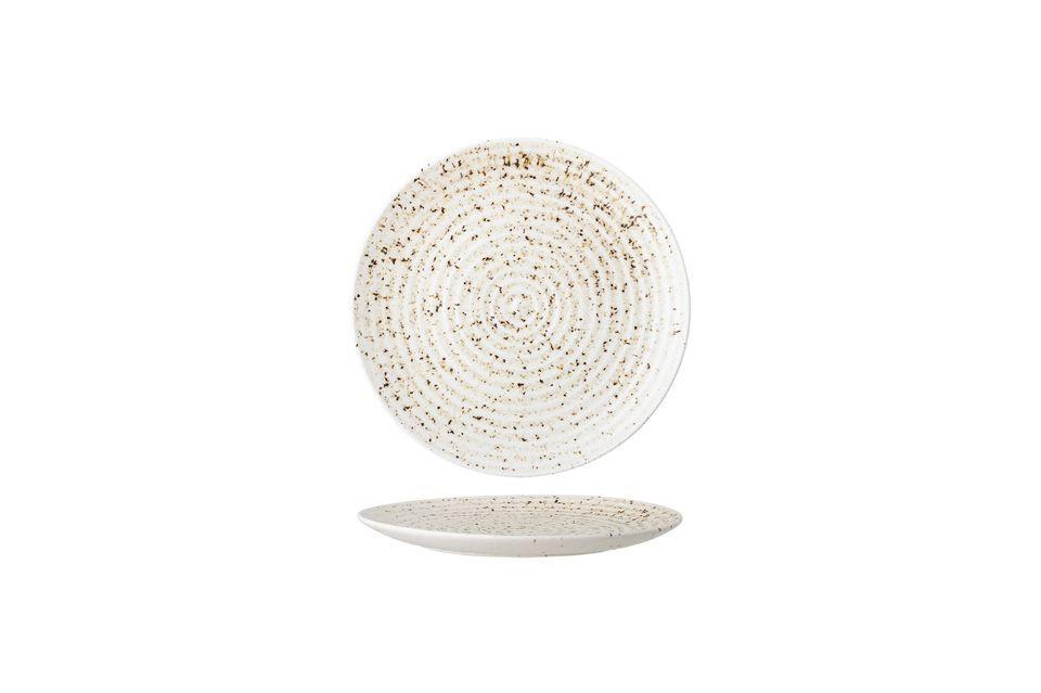 Deze steengoedplaat maakt de keuze van kleuren en sobere details om het vakmanschap te sublimeren en
