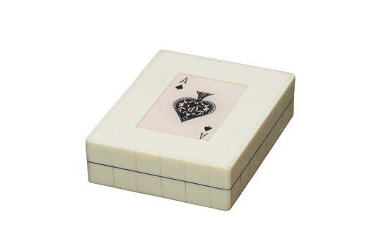 Witte doos 2 decks schoppenkaarten