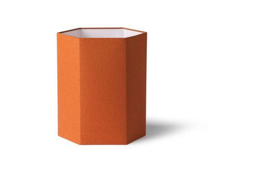 Zeshoekige Maltat oranje jute lampenkap maat M
